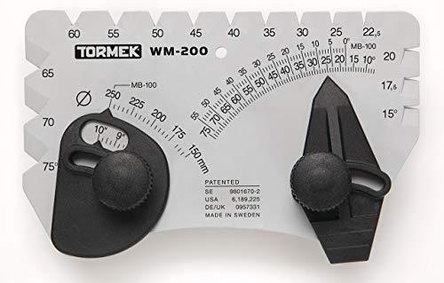 Winkelsatz für Schärfsystem Tormek WM-200 Winkelmaster Setzt den...