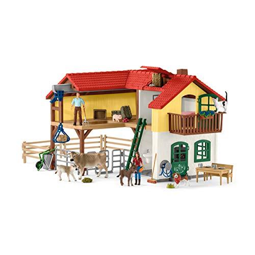 Schleich 42407 Farm World Spielset - Bauernhaus mit Stall und Tieren,...