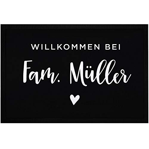 SpecialMe® Fußmatte Willkommen bei Familie [Wunschname] Herz...