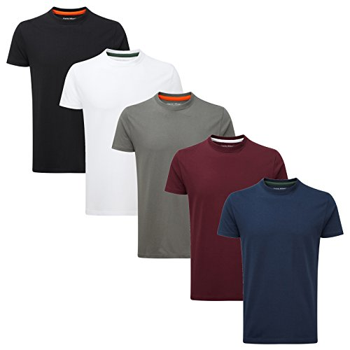 Charles Wilson 5er Packung Einfarbige T-Shirts mit Rundhalsausschnitt...