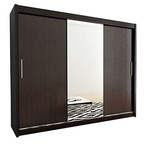Kryspol Schwebetürenschrank Tokyo 1-250 cm mit Spiegel Kleiderschrank...