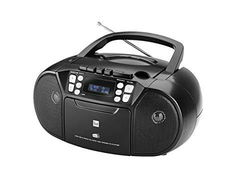 Dual DAB-P 210 Kassettenradio mit CD - DAB(+)/UKW-Radio - Boombox -...