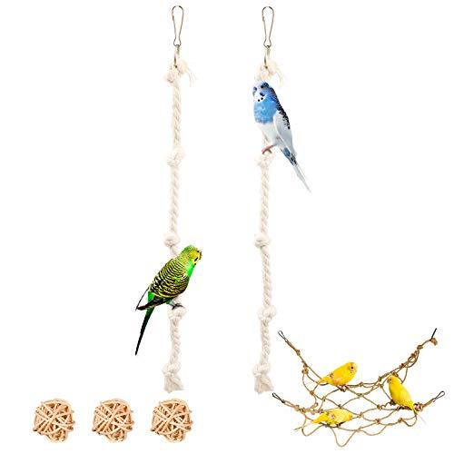 3 Stück Vogel Kletterseil Baumwolle Spielzeug, Vogel Kletter...