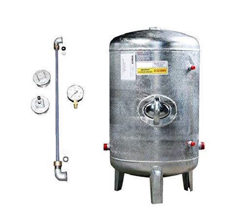 Druckbehälter 100 150 200 300 500 L 6 bar senkrecht mit Zubehör...