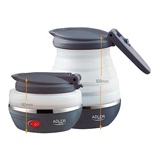 Adler AD1279 Elektrischer Wasserkocher, faltbar, 0,6Liter, 750W,...