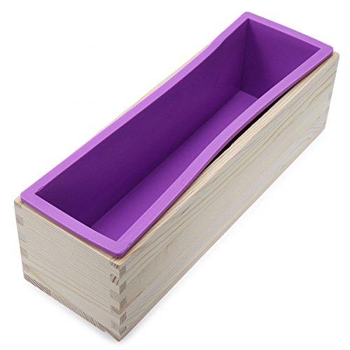 Sunreek Flexible rechteckige Silikonform mit Holzbox, für...