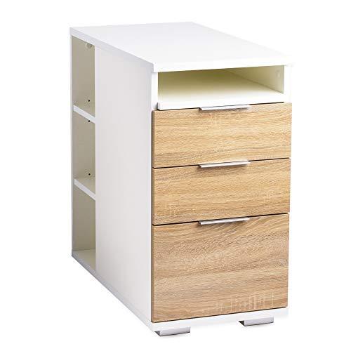 Beistelltisch - Nachttisch - Schubladenschrank [Funktional]...