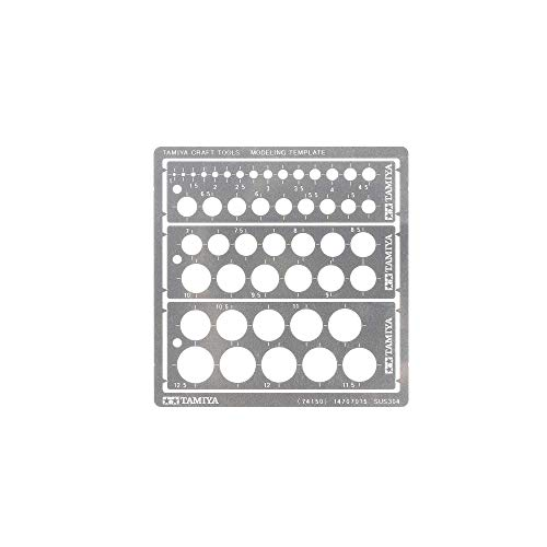 TAMIYA 74150 Modeling Kreis Schablone PE (3) 1-12,5mm...