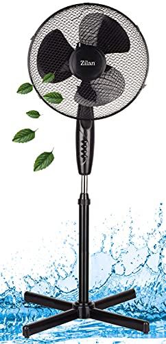Standventilator leise Ø41 cm | 3 Stufen | Luftkühler | Klimagerät |...