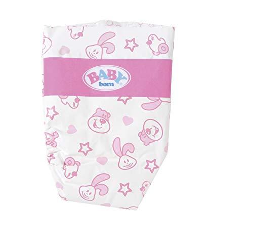BABY Born 826508 Windeln für 43cm Puppe - Einfach für Kleine Hände,...