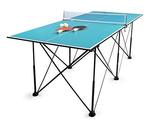 Leomark Tischtennis Klappbare - Blau Tischtennisplatte - Tischtennis...