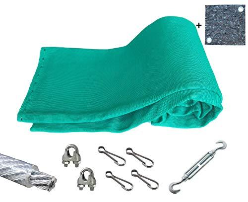 Pfeilfangnetz grün - extra Safe 5m (breit) x 3m (hoch) inkl. Zubehör...