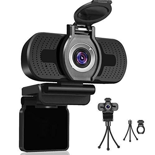 Dericam 1080P Webcam mit Mikrofon, USB Computer Webkamera, Plug Mit...