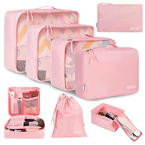 Amazon Brand - Eono 8 Teilige Kleidertaschen, Packing Cubes,...