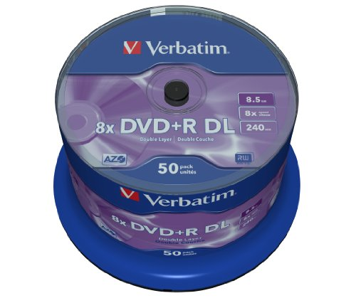 Verbatim DVD+R Double Layer Matt Silver 8.5GB I 50er Pack Spindel I...