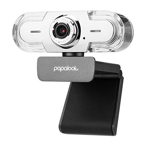 papalook Webcam 1080p/30fps, PA452 Pro Full-HD-Videostream-Webkamera...