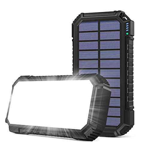 Riapow Solar Ladegerät 26800mAh, Schnellladung Solar Powerbank mit...