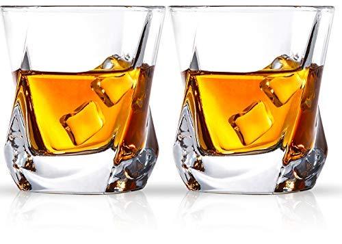 Cooko Whisky Gläser, Luxus Kristall Gläser Set, Non-Leaded Clarity...