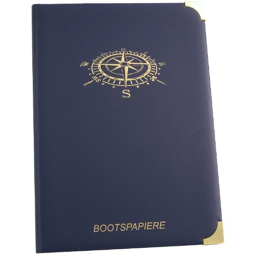 Kapitänsetui schwarz, Motiv Kompass