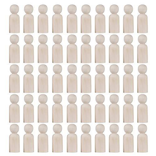 Gobesty Holzfiguren Figures, Holzfiguren zum Bemalen, 50 Stück Holz...