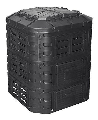 Komposter 860L aus Kunststoff, Schnellkomposter mit Belüftungssystem,...