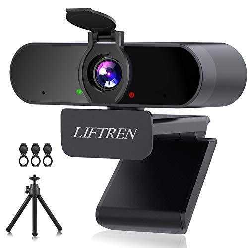 LIFTREN 1080P HD Webcam Mit Mikrofon für PC, USB Streaming Web Cam,...