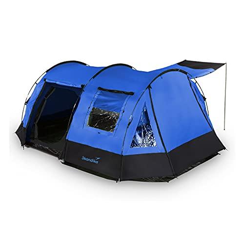 skandika Kambo Tunnelzelt für 4 Personen | Zelt mit Schlafkabine für...