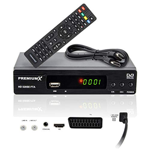 PremiumX HD 520SE FTA Digital SAT TV Receiver DVB-S2 FullHD HDTV...