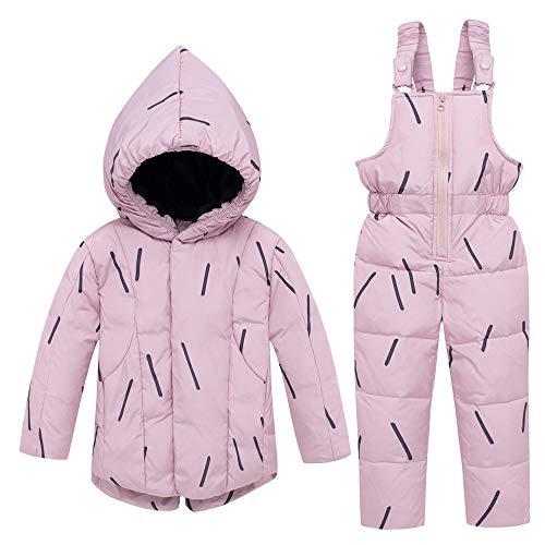 BEIAKE Junge Mädchen Winter 2 Stück Kinder Winter Oberbekleidung...