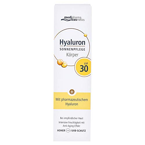 medipharma cosmetics HYALURON SONNENPFLEGE Körper Creme LSF 30, 150...