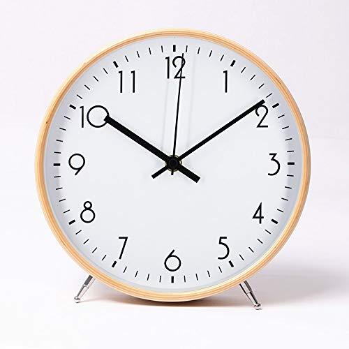 ALEENFOON 8.6 Zoll Holz Uhr Modern Leise Wanduhren Tischuhr für...