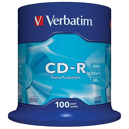 Verbatim CD-R Extra Protection 700 MB I 100er Pack Spindel I...