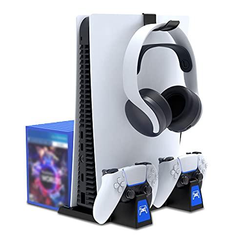 PS5 Ständer mit Controller Schnellladestation für Playstation 5 Disc...