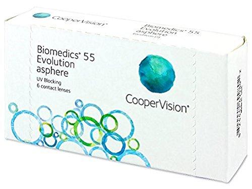 Biomedics 55 Evolution Monatslinsen weich, 6 Stück / BC 8.6 mm / DIA...