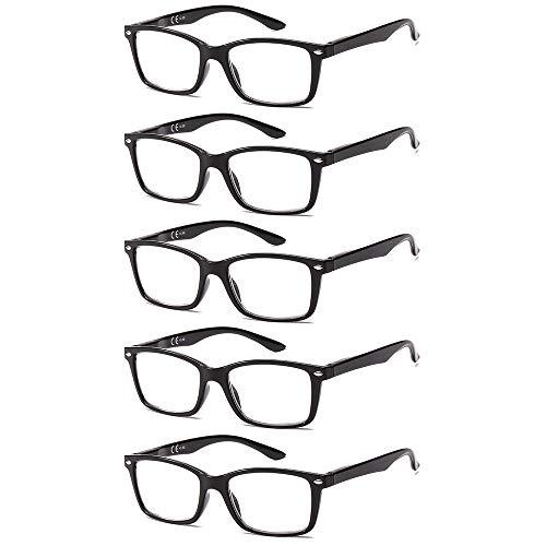 Suertree 5 Pack Lesebrille Feder Scharnier Sehhilfe Augenoptik Brille...