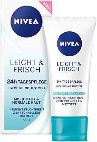 NIVEA Leicht & Frisch Tagespflege 24h Feuchtigkeit (50 ml), Creme-Gel...