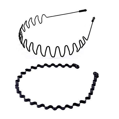 UTOMAG Metall Haarband für Herren und Damen – Rutschfestes...