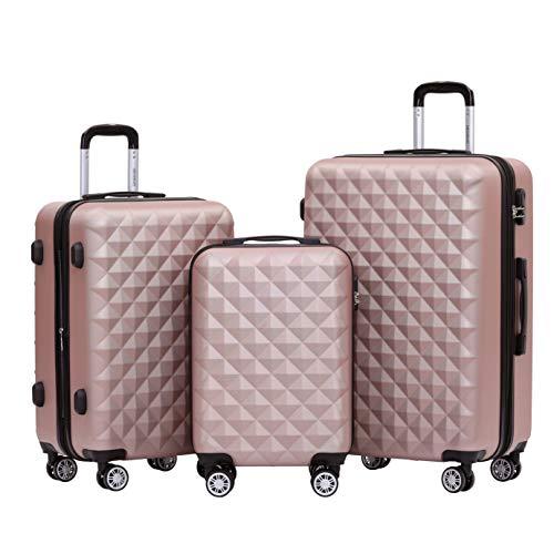 BEIBYE Zwillingsrollen 2066 Hartschale Trolley Koffer Reisekoffer...
