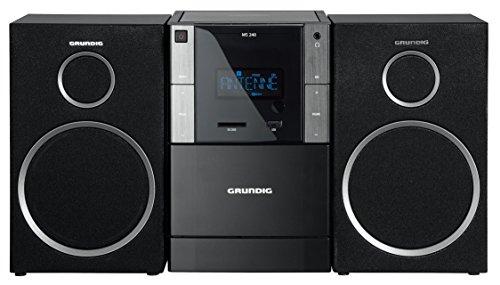 Grundig GLR5150 MS 240 Design Micro Anlage (FM-Tuner, MP3 Wiedergabe,...