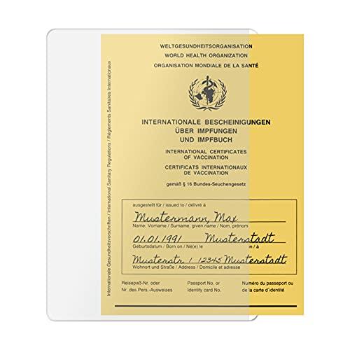 Hülle für Impfpass Impfausweis - 106x155 mm - seitliche Öffnung...