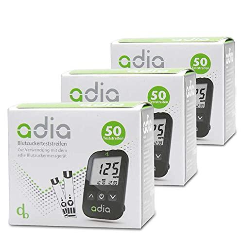 adia Blutzuckerteststreifen, 150 Stück, die günstige und einfache...
