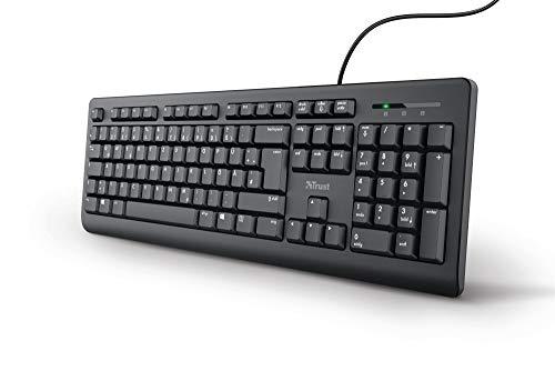 Trust Taro Kabelgebundene Tastatur - Deutsches QWERTZ Layout, Leise...