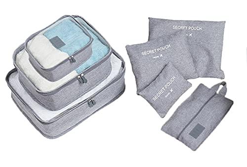 Socluer Packtaschen Packbeutel Kleidertaschen, 7 Teilige Koffer...
