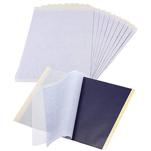 25 Blatt Tattoo Transferpapier Papier, Tattoo Schablonen Pauspapier A4...