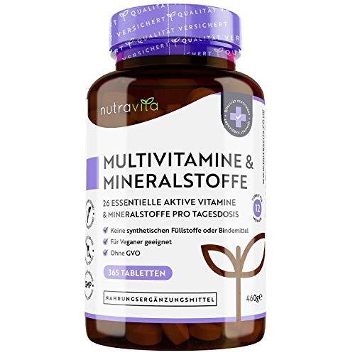 Multivitamin & Mineralstoffe - 365 hochdosierte Tabletten mit...