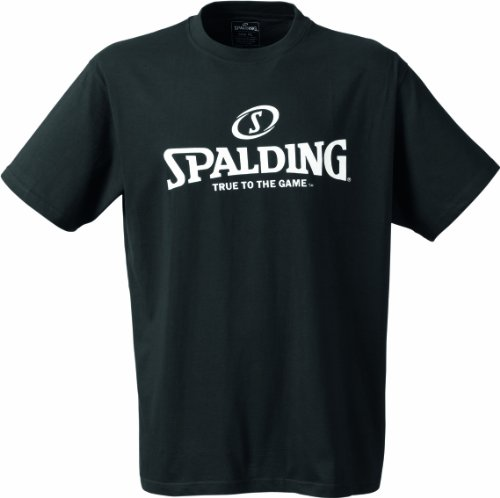 Spalding Mens Basketball-Fanartikel Logo T-Shirt, Black, M