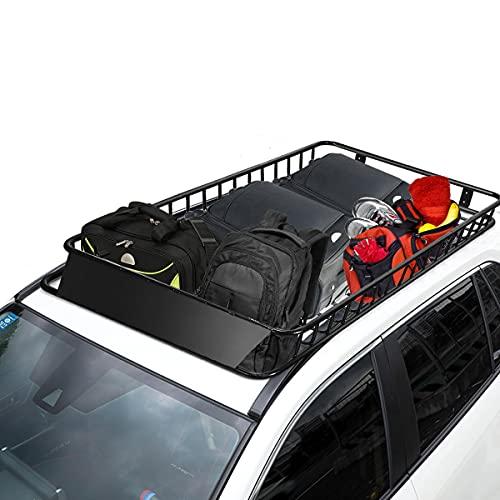 COSTWAY Universal Dachkorb aus Stahl, Auto Dachgepäckträger bis...