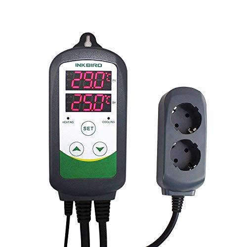 Inkbird ITC-308 Digitaler Temperaturregler mit fühler, Heizen Kühlen...