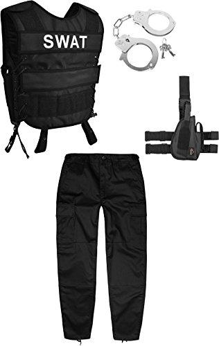 normani Kinder Fashingskostüm bestehend aus SWAT-Weste, Kinderhose,...
