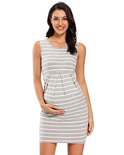Love2Mi Damen Ärmellos Kleider für Schwangere, Elegant Umstandskleid...
